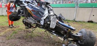 Видео аварии с болидом Алонсо 2016 на этапе «Формулы-1» Гран-при Австралии
